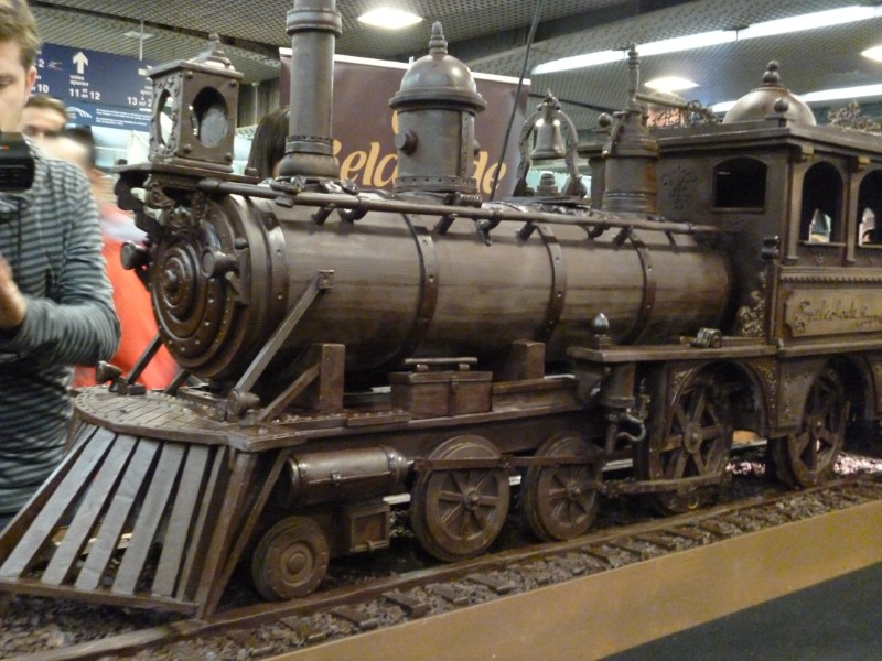34 metre long chocolate train