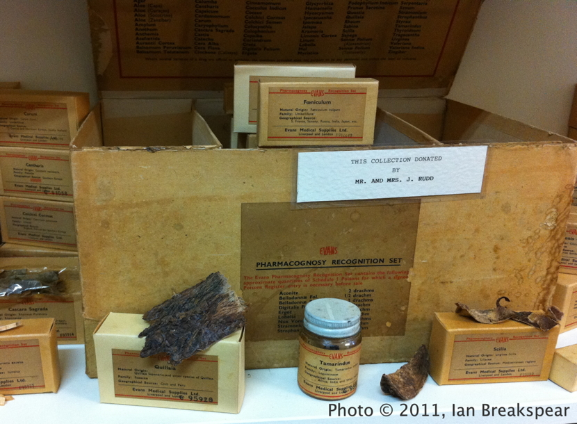 Evans Pharmacognosy Kit at Childers Pharmaceutical Museum, 2011