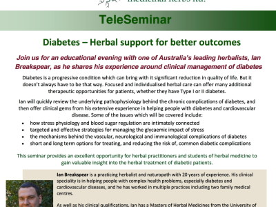 Seminar flyer Diabetes October 2014