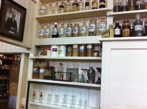 Bottles in Childers Pharmaceutical Museum
